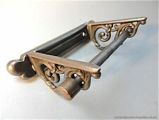 BEAUTIFUL CAST IRON VICTORIAN STYLE FOLIAGE TOILET ROLL HOLDER WALL MOUNT