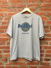 Hard Rock Cafe Singapore T Shirt Mens Gray (1006)