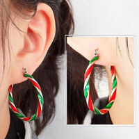 Fashion Women Geometric Circle Statement Hoop Earrings Jewelry Xmas Gift Surpris