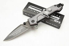 """VERY COOL 6.375"""" EXTREMA RATIO MF2 GUN METAL GRAY spring assist  RESCUE KNIFE"""