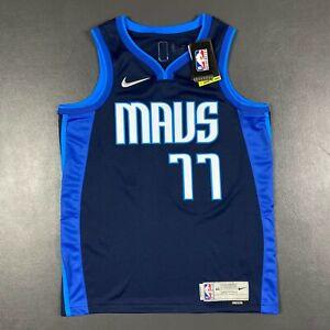 100% Authentic Luka Doncic Nike Mavericks Earned Swingman Jersey Size 44 M Mens