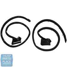 1970-71 Ford Torino Coupe Hardtop Door Seals - Pair - LM14T
