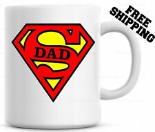Super DAD Coffee Mug Cup Fathers Day Gift For Papa Christmas Gift