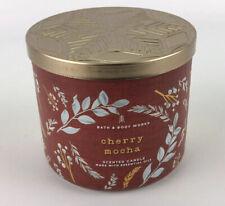 BATH & BODY WORKS (CHERRY MOCHA)3 WICK CANDLE 14.5OZ Scented Cherry Chocolate