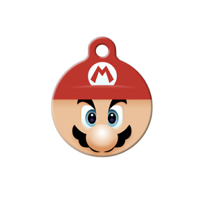 Pet ID Name Tag Super Mario Nintendo Fan Personalised Custom DOG CAT Name Tag