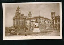 Lancashire Lancs LIVERPOOL Liver and Cunard Buildings c1910/20s? RP PPC