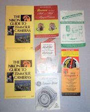 VTG Nikon Kodaguide GE Mansfield Polaroid Revere Camera Movie Manuals & Guides