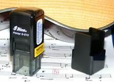 Small 4 String Fret Stamp, Self-Inking , Ukulele, Banjo & Other Instruments, Red