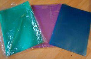Lot de 25 pochettes plastique A4 Chemises Couleur Protège Documents transparents