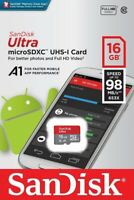 SanDisk® Ultra 16GB microSDHC™ UHS-I SD Card Speed up to 98MB/s C10 U1 A1 New