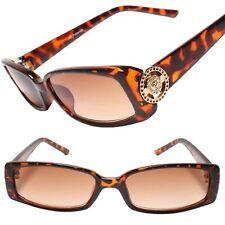 Womens Rectangle Designer Luxury Tinted Lens Tortoise 1.00 Reading Sunglasses