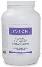 Biotone Relaxing Therapeutic Massage Creme 128 oz. - 1 Gallon