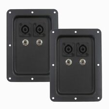 "Seismic Audio 2 REPLACEMENT Jack Plates Dual Speakon ~ 1/4"" PA Speaker"