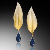 New Women Charm Drop Luxury Gold Filled Sapphire Earring Stud Dangle Earrings