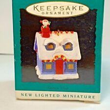 Hallmark KeepSake Ornament Miniature Santa's Visit 1995 Lighted Miniature