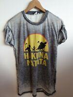 Disney Lion King Bleach Wash T Shirt 12 Grey <RK433z
