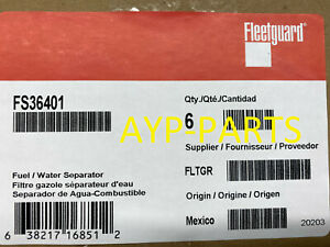 (CASE OF 6) FS36401 FLEETGUARD FUEL FILTER PF9928