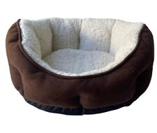 Donut Beds for Small/Medium Pet, Brown.