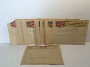 Vtg 1950's 1960's Western Union Telegram Lot of 29 Congradulations 763-55