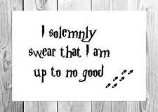 I Solemnly Swear… - Harry Potter - Marauders Map - Art Print - A4 Size