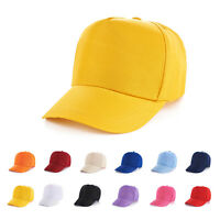 Kids Baseball Cap Adjustable Classic New Cotton Summer Sun Panel Hat 52-62 cm.UK