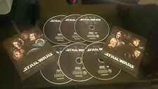 STAR WARS THE COMPLETE SAGA 1,2,3,4,5,6 I II III IV V VI on DVD for DVD'S ONLY
