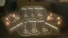 STAR WARS THE COMPLETE SAGA 1,2,3,4,5,6 I II III IV V VI on DVD for DVD'S ONLY