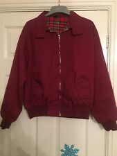Harrington Jacket Burgundy Cherry Red Oxblood UK S Punk Skin Oi Ska England