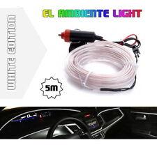 LED Ambiente Innenraumbeleuchtung EL Lichtleiste Ambientebeleuchtung 5m Weiß