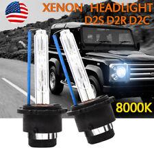 Pair D2S D2R D2C 55W 3200LM HID Xenon Headlight Bulbs Lamps 8000K Ice Blue Light