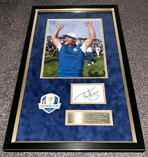SALE THORBJORN OLESEN GOLF HAND SIGNED FRAMED PHOTO DISPLAY AUTHENTIC + COA
