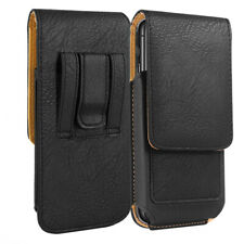 Samsung Galaxy S7 S8 S9 VERTICAL Carrying Leather Pouch Case Belt Clip Holster