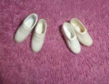Vintage Barbie Doll Clothes - Vintage Francie Size Clone White Tennis Shoes