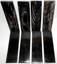 8 Streaked Horn Scales 6x1.75x.37 Knifemaking Supplies Knife Handle Horn Plates