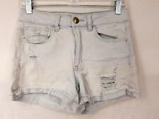 American Eagle Hi-Rise Shortie Shorts Size 6 Distressed Raw Edge Bleached   A1P