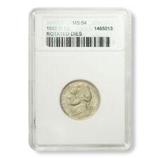 USA Mint Error Jefferson Nickel Rotated Dies 1992-D ANACS MS 64