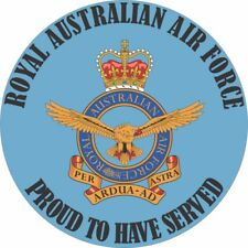 ROYAL AUSTRALIAN AIR FORCE  RAAF PROUD TO HAVE SERVED LAMINATED VINYL STICKER