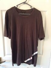 "Louis Vuitton Marrón ""LV"" Diseñador Camiseta *** 100% Auténtico"
