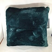 Hallmart Collectibles18x18 Square Decorative Pillow - Faux Fur Teal Blue Green