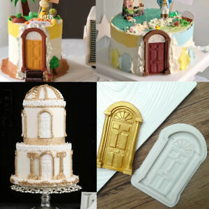 Christmas Fairy House Door Silicone Fondant Mould Cake Decorating Chocolate Mold