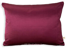 Osborne and Little Kediri Silk Designer Satin Plum Sofa Cushion Pillow Cover