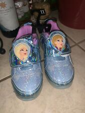 New listing GIRLS Sz 11 SNEAKERS LIGHT UP Athletic SHOES DISNEY FROZEN 2 FASHION NEW