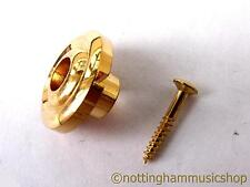 Gold string retainer tree for electric precision or jazz bass guitar + screw