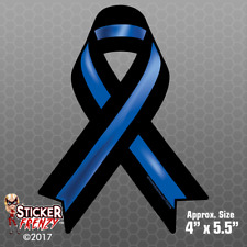 Thin Blue Line RIBBON Sticker -USA Bumper Vinyl Decal Police Lives Matter FS2004