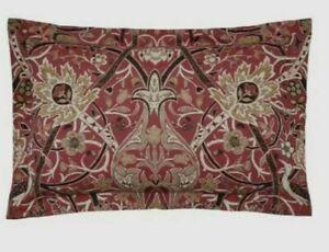 Brand New John Lewis William Morris Bullerswood Oxford Pillowcase Paprika/Gold