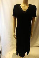 Ladies Eastex Black Velvet Evening Dress Size 12 Classic Party Outfit