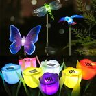 Outdoor Solar Power Tulip Flower LED Light Yard Garden Path Way Landscape Lamp &