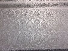 "Damask Jacquard Flower 54"" Drapery upholstery fabric by the yard"