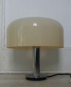 Guzzini Era Vintage Chrome Perspex Table Lamp 60's