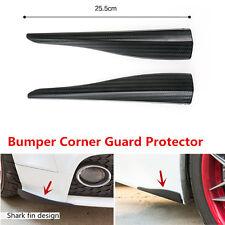 2x Carbon Fiber Look Car Styling Mouldings Bumper Corner Scratch Guard Protector